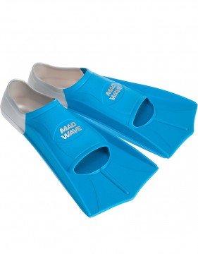Mad Wave - Svømmeføtter, Training Fins, Grey/Blue