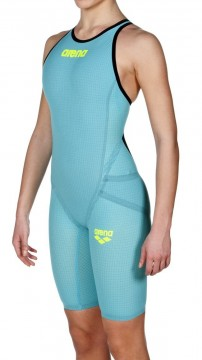 ARENA -  Powerskin Carbon Flex VX, Open Back, Turquoise/Black