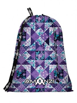 Amanzi Mesh Bag - Purple Plaid