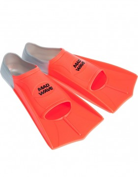 Mad Wave - Svømmeføtter, Training Fins, Grey/Orange