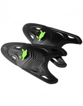 Mad Wave - Paddles, Freestyle, Black/Green